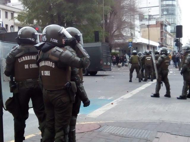 Chile: Desculpe pelo transtorno, estamos lutando por si