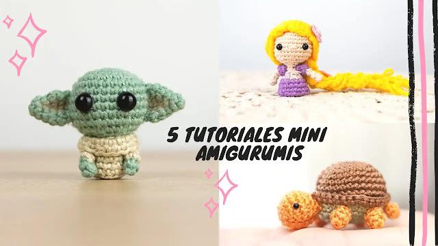 5 Tutoriales Mini Amigurumis a Crochet