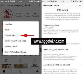 Cara Melihat Informasi Data Akun Instagram Sendiri Dan Orang Lain