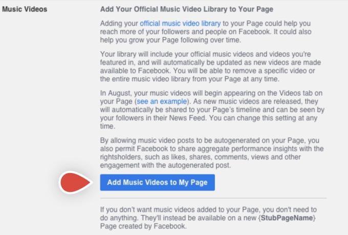 settings fb page
