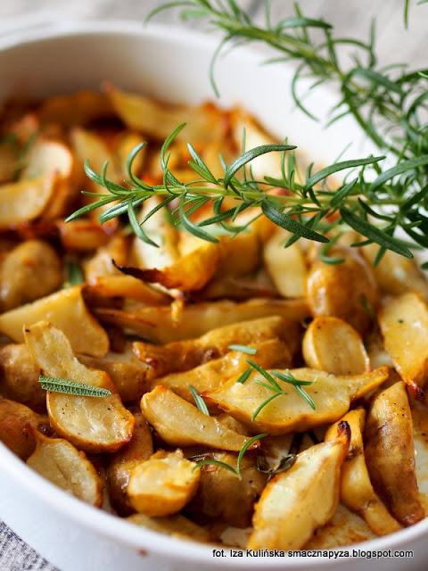 slonecznik bulwiasty pieczony, topinambur z piekarnika, jak upiec topinambur, co to jest topinambur, pieczone warzywa, warzywa z piekarnika