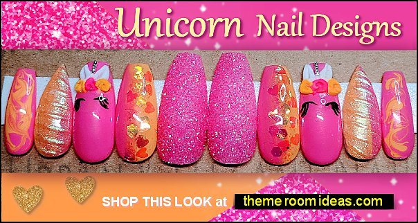 Unicorn nails Unicorn nails unicorn nail art - unicorn rainbow nail decals