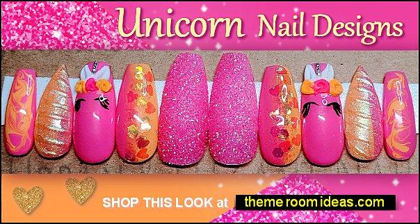 Unicorn nails Unicorn nails unicorn nail art - unicorn rainbow nail decals