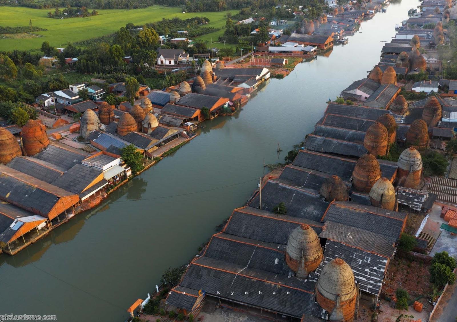 Ảnh chụp làng gốm Vĩnh Long trên cao- ảnh 6