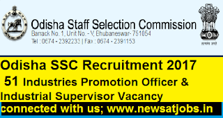 Odisha-SSC-51-Industries-Promotion-Officer-Recruitment
