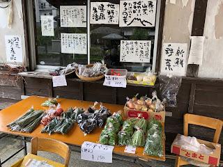 野菜の路上販売