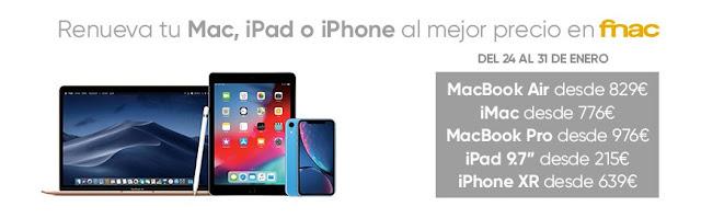 Top 5 ofertas Renueva tu Mac, iPad o iPhone al mejor precio de Fnac