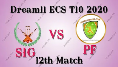 Who will win SIG vs PF 12th T10 Match