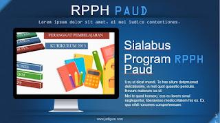 RPPH PAUD umur 2 dan 3 tahun semester 1