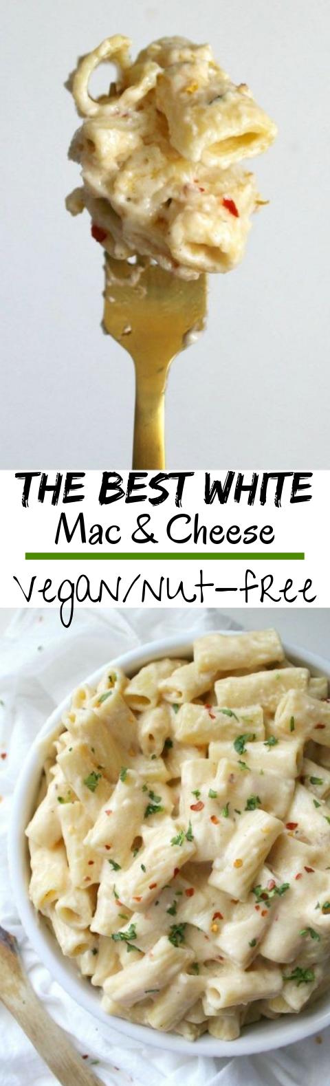 Best Vegan White Mac and Cheese #vegetarian #pasta