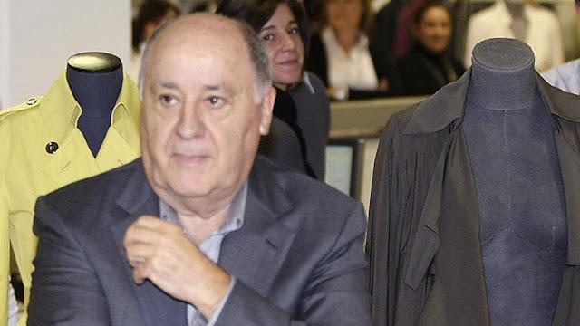 Gana 1.067 millones de dólares en un sólo día: Amancio Ortega ya es el más rico del mundo