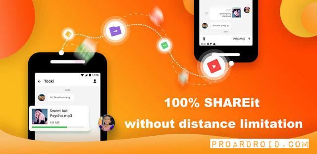 تحميل تطبيق لإرسال واستقبال الملفات بسرعة كبيرة SHAREit Lite
