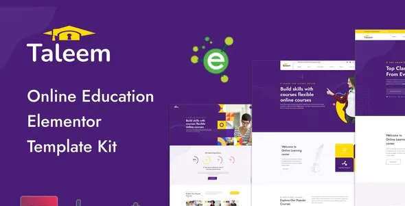 Best Online Education Elementor Template Kit