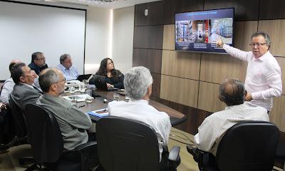 Ações de parceria com Petrobras e ANP são apresentadas à diretoria do Serviço Geológico