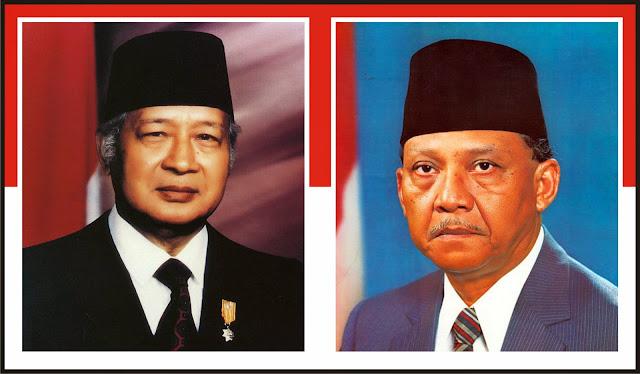 Gambar Presiden Soeharto dan Umar Wirahadikusumah