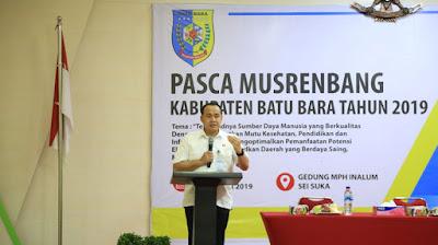 Bupati Batubara Tetapkan Lima Prioritas Pembangunan 2020