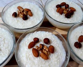 طريقة عمل مهلبية باللبن والأرز المطحون