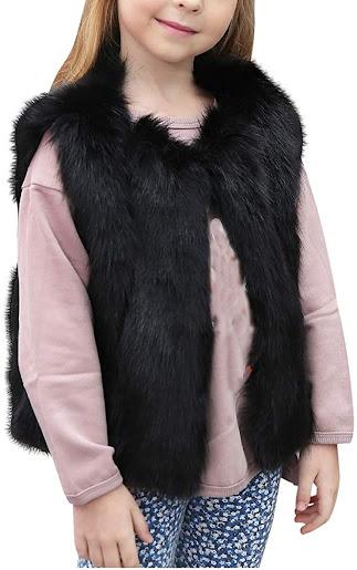 Girls Faux Fur Vest For Kids