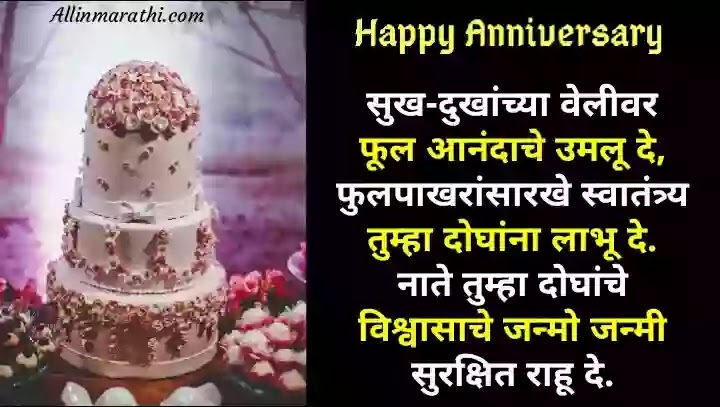 Happy Anniversary wishes marathi