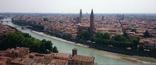 Panorámica de Verona desde el Castillo de San Pietro.