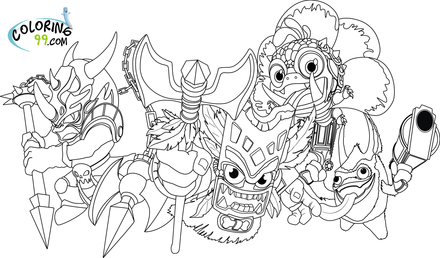 skylander wrecking ball coloring pages | Skylanders Magic Element Coloring Pages | Minister Coloring