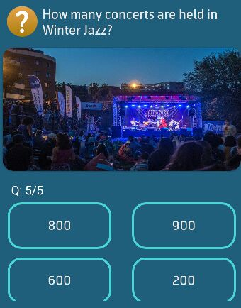 How many concerts are held in Winter Jazz?