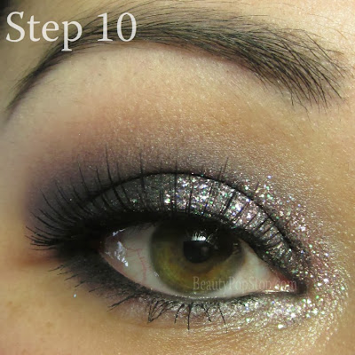 new year's eve makeup tutorial using red cherry lashes and inglot brow powder 565