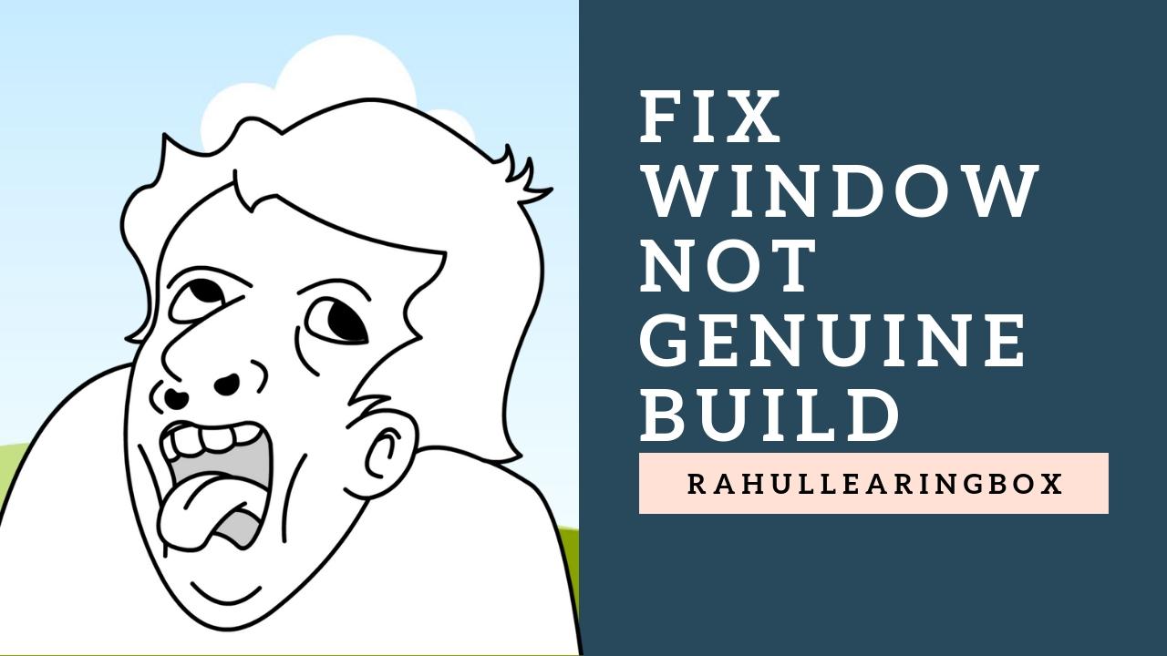 windows build 7601 not genuine