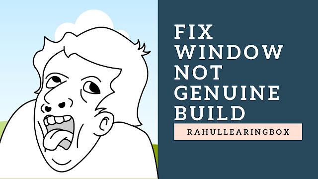 How to Fix Window Not Genuine Build 7601