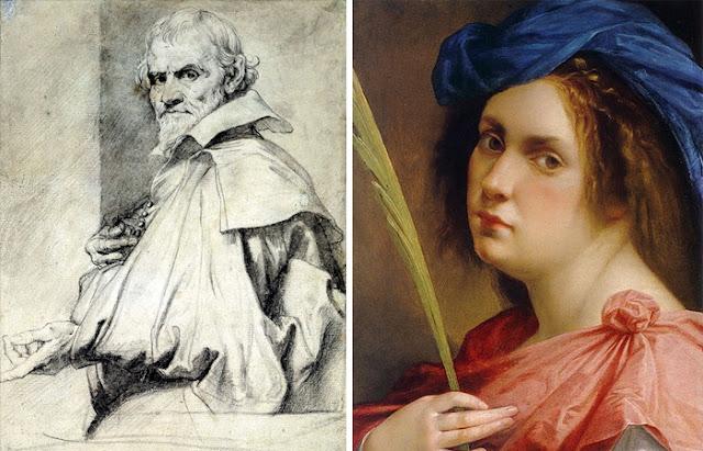 Orazio Gentileschi e sua filha Artemisia Gentileschi