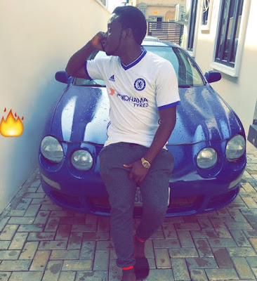 Wow! Seems Popular Blogger Abraham Has Added Multi-Million Naira Toyota Celica Sport Car To His Garage