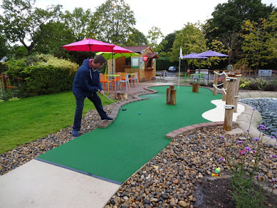 Playing Adventure Golf at the Four Ashes Golf Centre in Dorridge