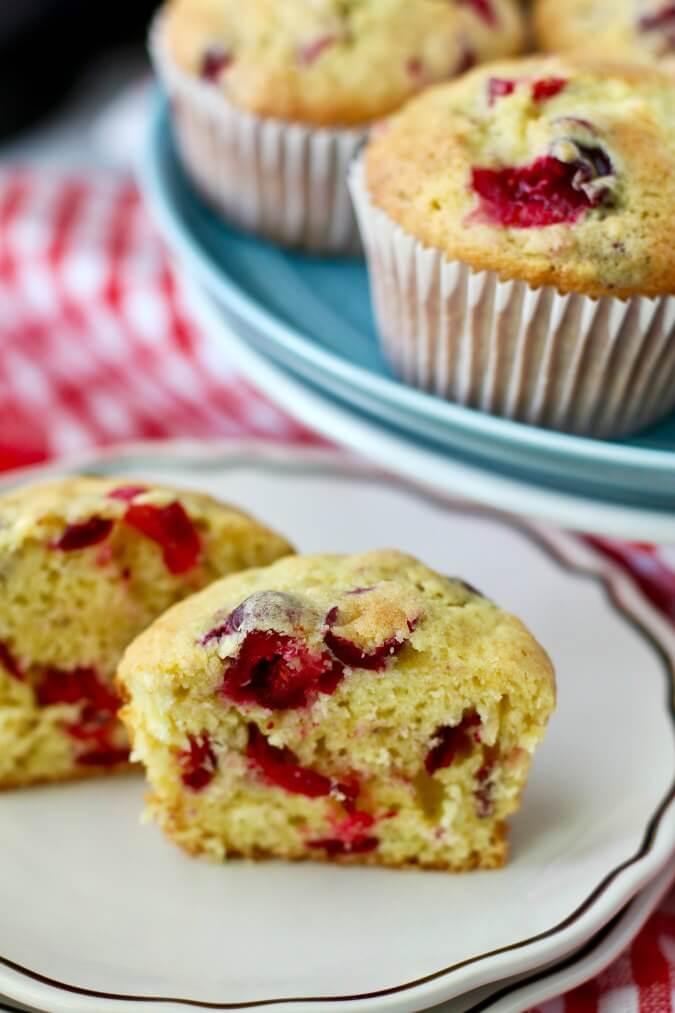 Cranberry orange muffin crumb