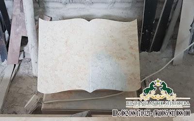 Nisan Buku Batu Alam, Harga Nisan Kotak, Nisan Model Buku Marmer