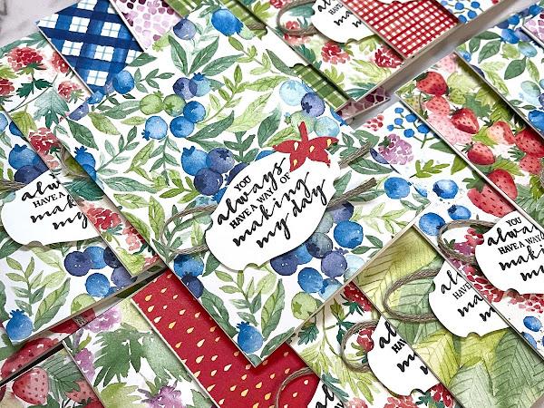 Top Ten International Highlights Winners Blog Hop February 2021 | Berry Delightful Note Cards