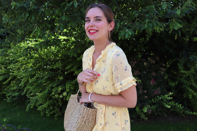 robe jaune fleurie h&m 8