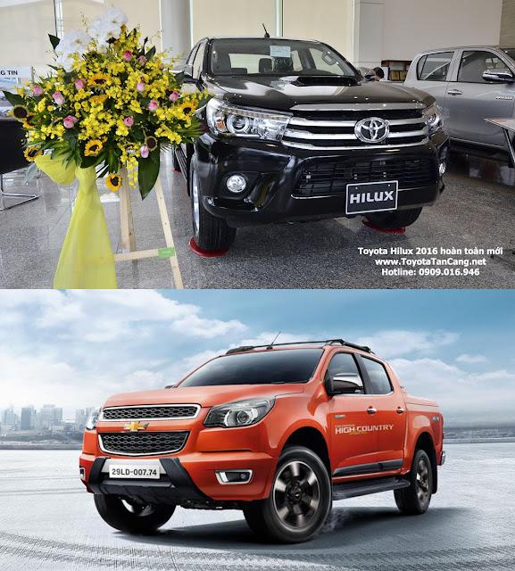 Chọn xe bán tải Toyota Hilux 3.0G 4x4 hay Chevrolet Colorado High Country ?