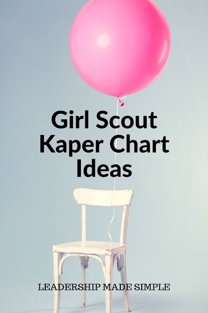Girl Scout Kaper Chart Resources