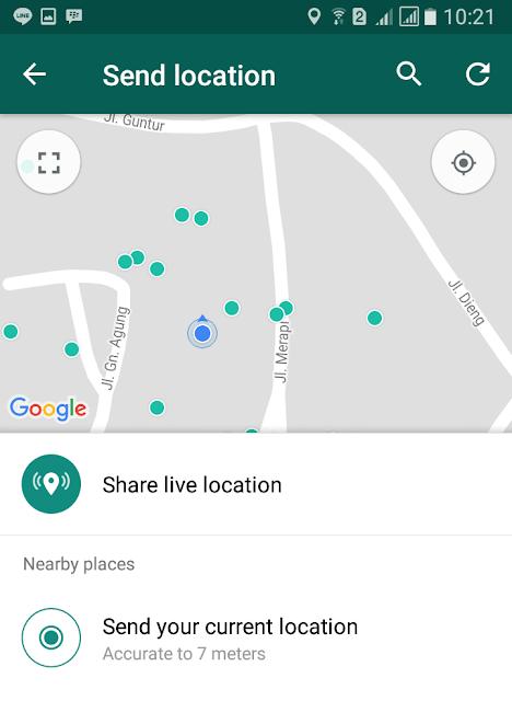 Cara Melacak Lokasi Teman di WhatsApp 4