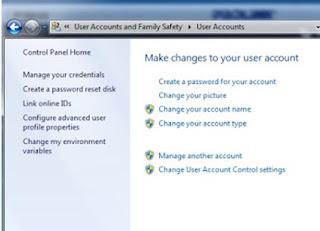 password user windows 7
