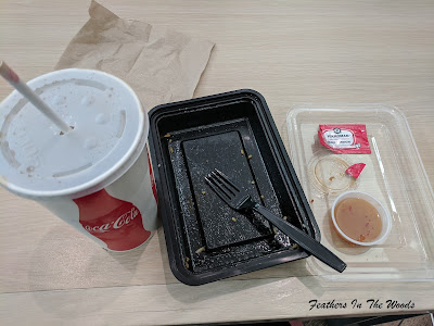 Single use plastic from 1 food court meal