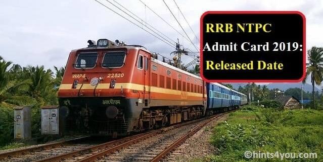 RRB NTPC Admit Card: