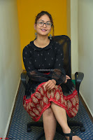 Aditi Myakal in Spicy Red Short Skirt and Transparent Black Top at at Big FM For Promotion of Movie Ami Tumi 010.JPG