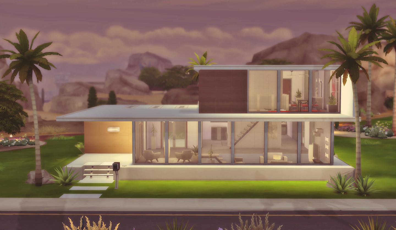 House 06 the sims 4 via sims for Casas sims 4 modernas