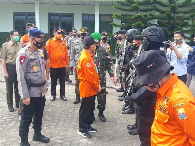 Upacara Pelepasan Tim Satgas Karhutla Dihadiri Kapolda Jambi di Makorem 042/gapu Jambi