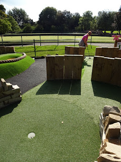 Adventure Golf course at Walton Hall and Gardens in Warrington