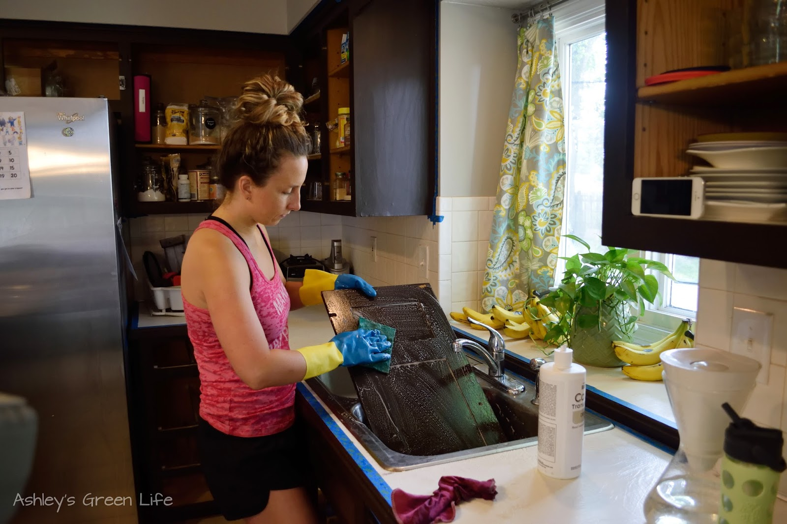 Ashleys Green Life How I Transformed My Kitchen Cabinets From Dark