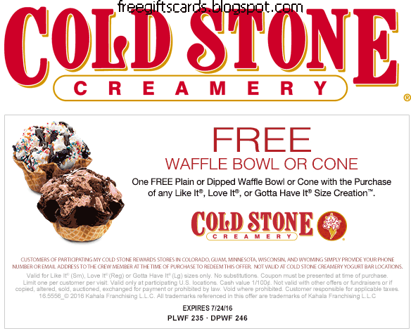 photograph regarding Cold Stone Printable Coupon referred to as 100+ Chilly Stone Creamery Discount codes Printable 2018 yasminroohi