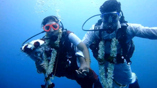India couple get married while scuba diving 60 feet under water