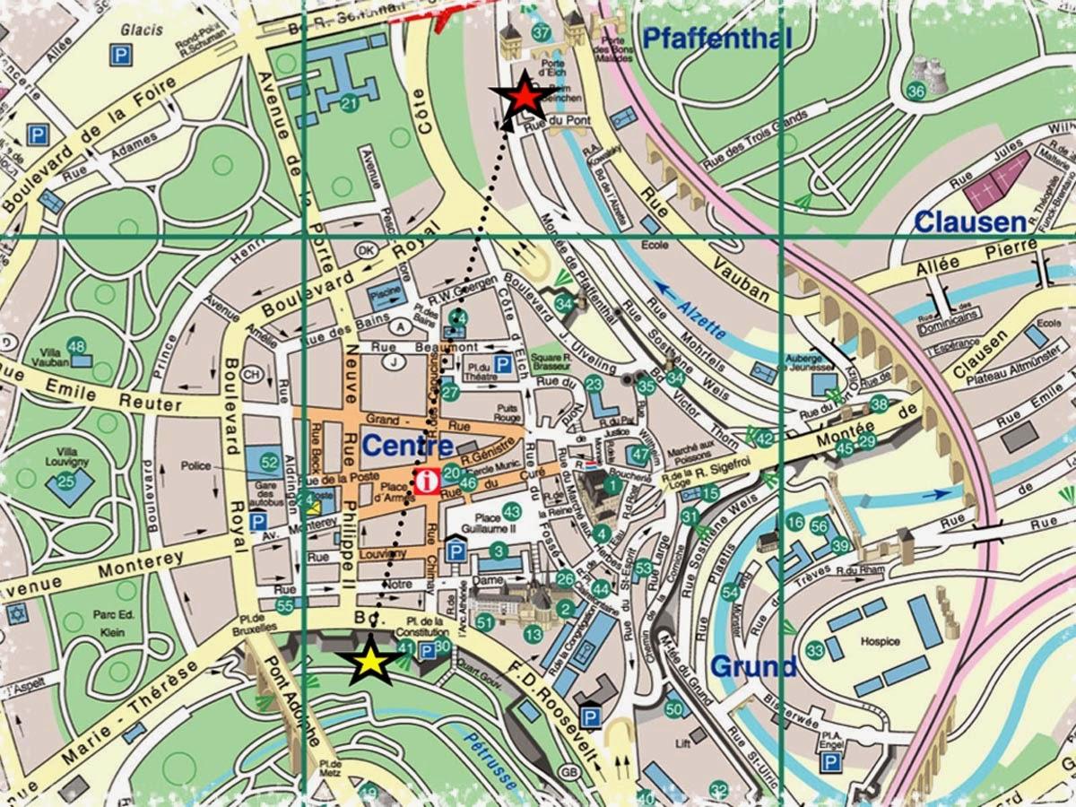 ver mapa do luxemburgo Mapas da cidade de Luxemburgo | MapasBlog ver mapa do luxemburgo